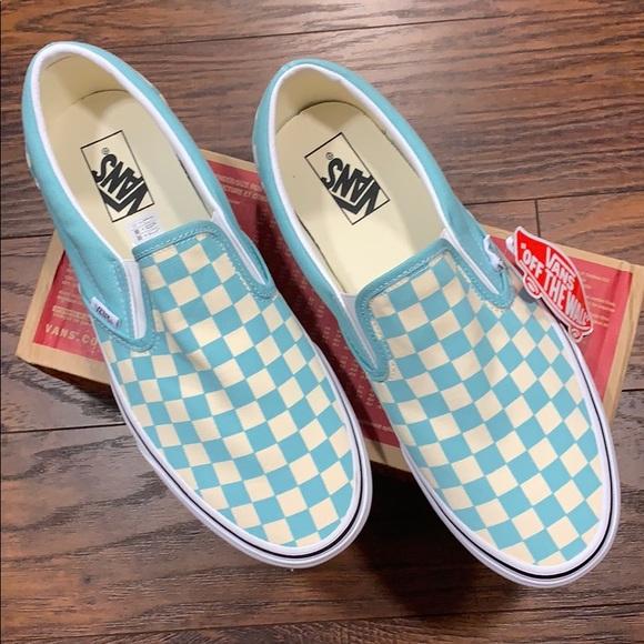 Vans Classic Slipon Checkerboard Aqua